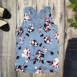 3/$20 🌸 Maurices Floral Racerback Tank Top